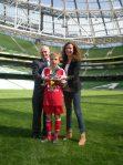Player of the Tournament - Manus McFadden. Aviva 5-a-Side All Ireland Schools Soccer Finals.