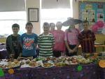 Halloween cake sale staff!