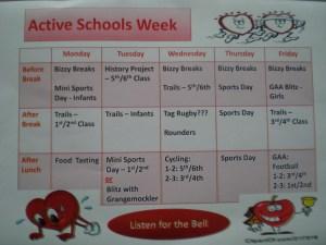 Active Schools Timetable