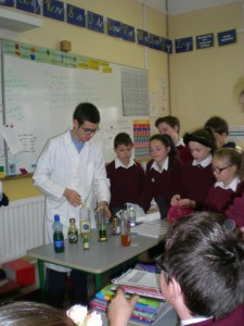 Science with Comeragh College in class