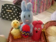 Bunny and chicks