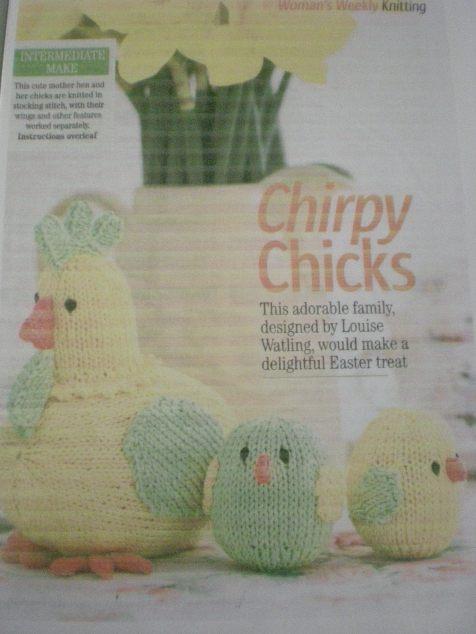 Knitting Pattern Chicks