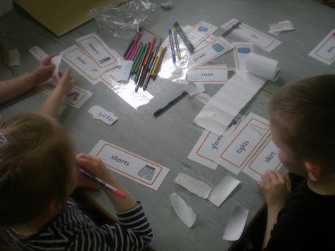 Playgroups-Writing signs for shop