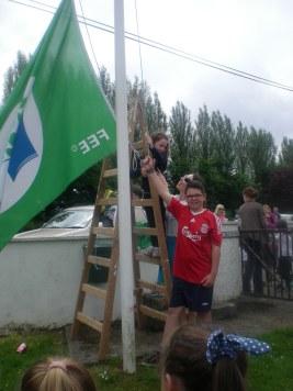 Green Flag Raising